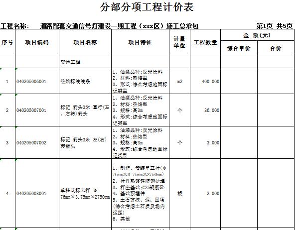 [广东]2018道路配套交通信号灯建设工程量清单实例(图纸)_5