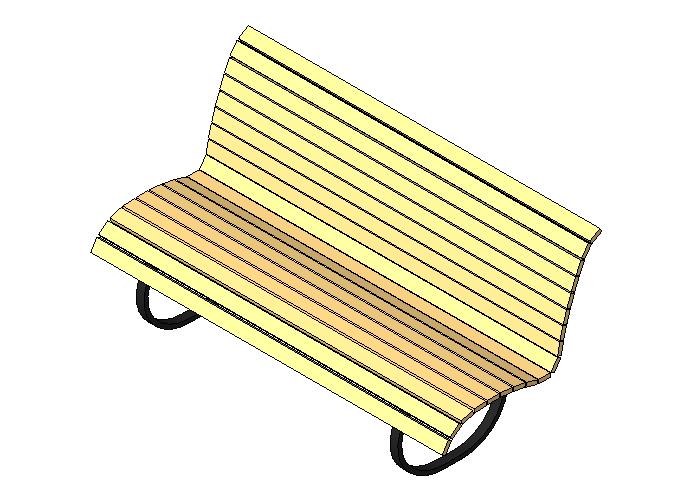 bim软件应用-族文件-园林木椅