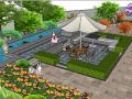 私家别墅花园庭院3d模型下载