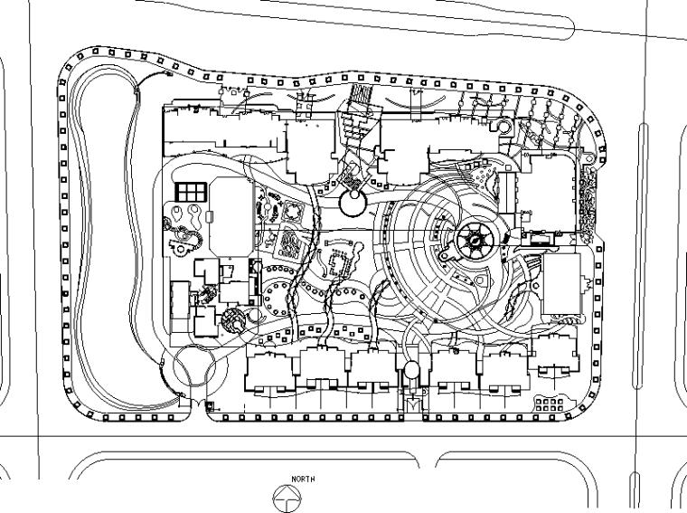 [广东]某地方金碧华府全套施工图设计(包含CAD)