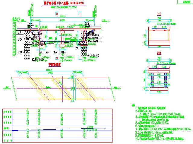 [湖北]四级公路(乡村农用公路)2-8m现浇整体板桥施工图纸35张CAD(桥宽7.6m)