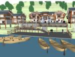 中式古镇吊脚楼群改造规划方案sketchup模型