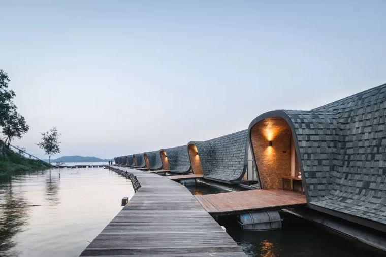 超美的水上筏式酒店设计,美出了新高度_4