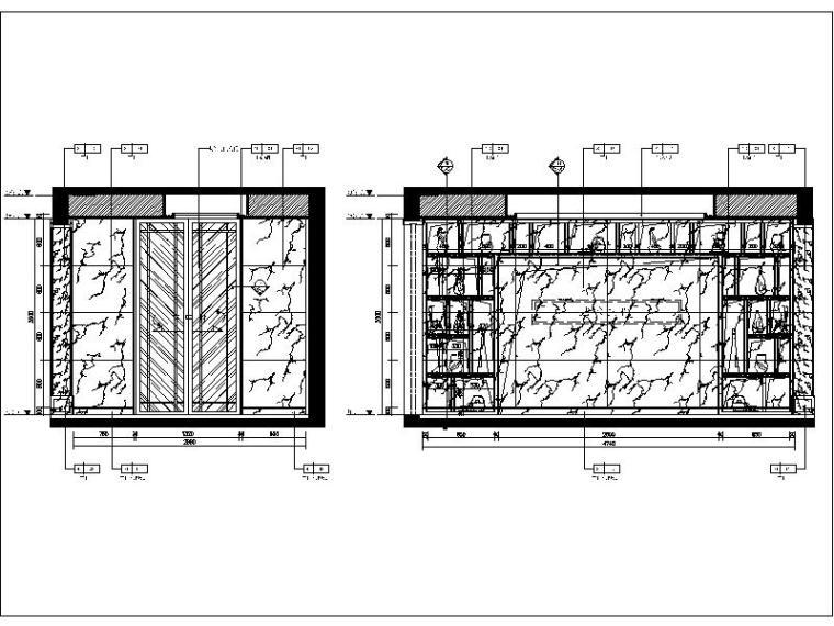 [深圳]国际高档会所设计立面图