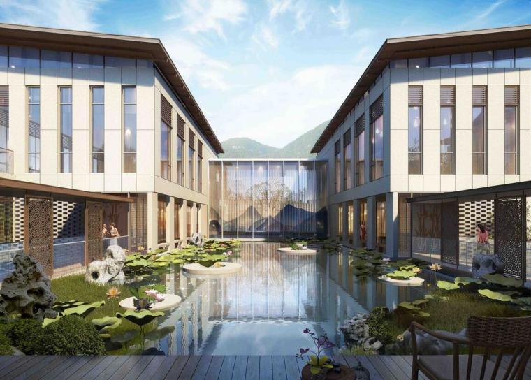 [四川]峨眉普陀山香格里拉精品度假酒店建筑模型设计(2018年)