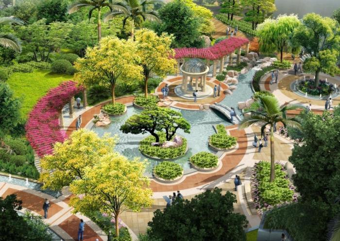 [福建]中西合璧滨江国际酒店及商住项目景观规划设计方案