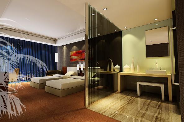 [福建]某休闲度假酒店设计CAD施工图(含效果图)-【福建】某休闲度假酒店设计CAD施工图(含效果图)效果图