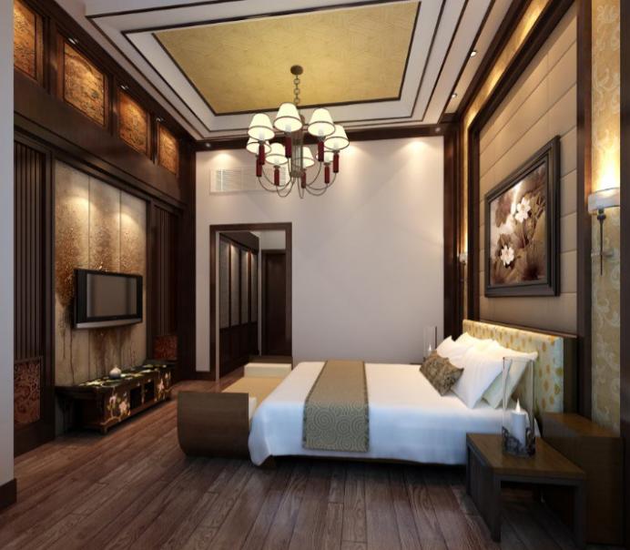 某三层别墅住宅室内设计施工图(含效果图).