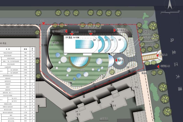99米高图纸性状福州闽侯文本巨舰项目成图图纸不设计师给cad酒店图片