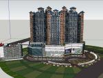 丰盛广场方案建筑设计(SU模型)