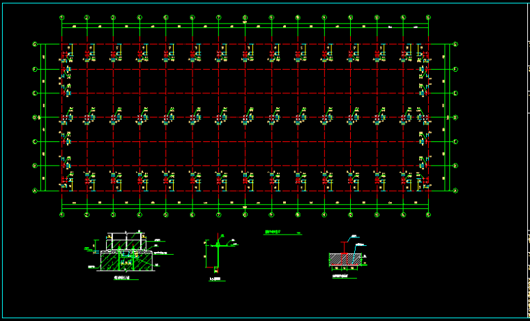 单层双跨实腹式门式刚架结构车间厂房结构施工图_6
