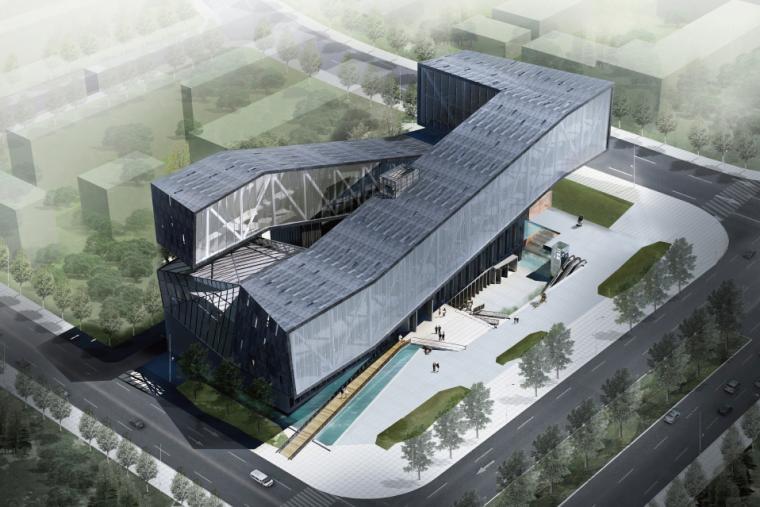 美术馆设计模型资料下载-[四川]美术馆建筑设计方案文本