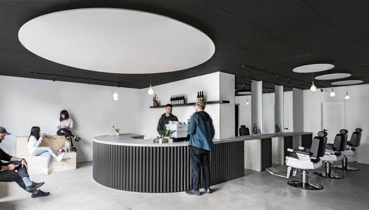 小空间整合多功能·多伦多Juice咖啡理发店 | 欧模设计圈