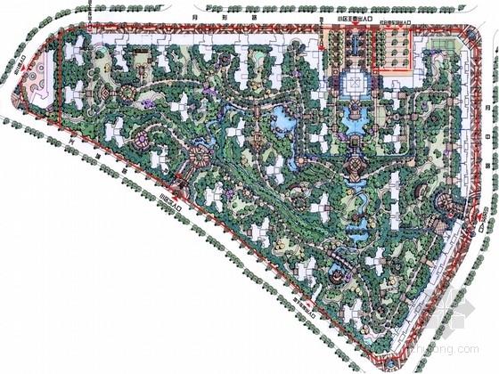 [湖南]ART DECO风格山水林间度假居住区景观规划设计方案