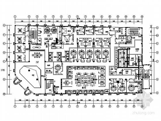 [杭州]现代新中式风格特色加盟连锁火锅店装修施工图(含效果)