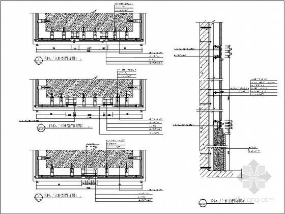 干挂大理石节点详图CAD图块下载