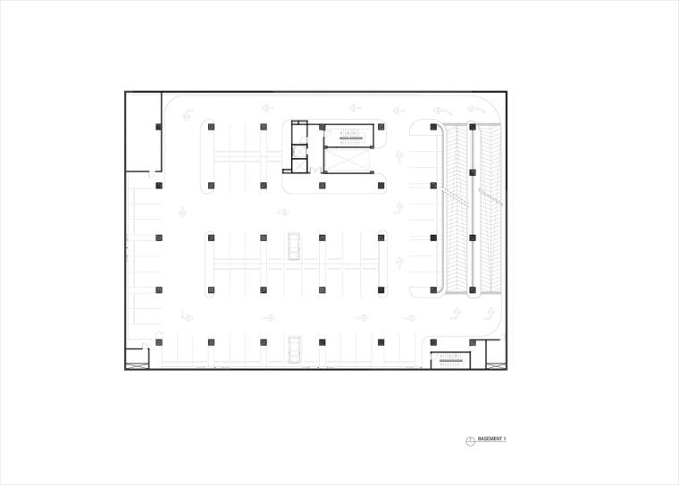 九转回环、流畅现代的车展大厅及办公楼设计_4