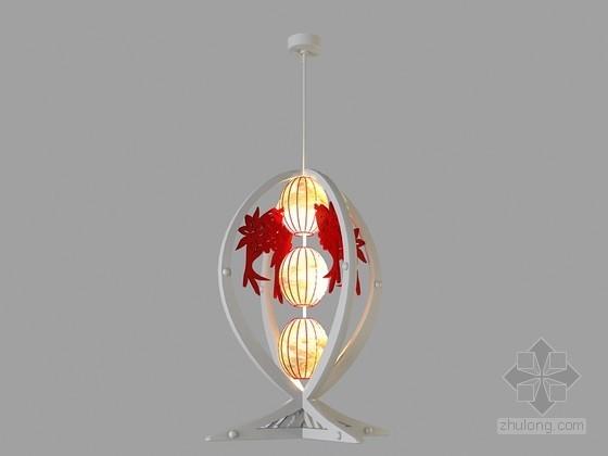 中式精美吊灯3D模型下载