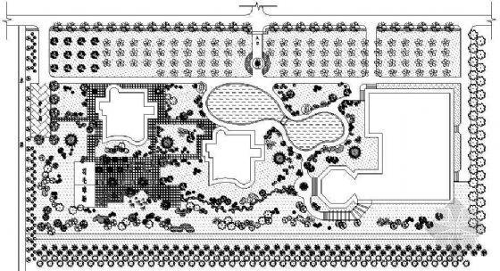 某公寓绿化设计平面图
