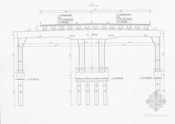 [河南]多箱室1跨简支叠合梁及2联预应力等截面变高度连续箱梁高架桥设计图411张