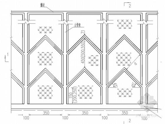 抗滑桩及人字型骨架护坡滑坡治理施工图(附计算书)