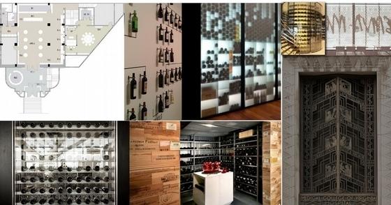 [天津]中外合资企业高档典雅红酒展厅设计方案图概念图