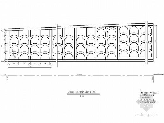 铁路工程路堑边坡溜坍整治设计施工图设计(拱型骨架护坡)