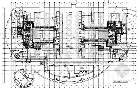 [地标建筑]国际金融会议酒店给排水图纸(消防炮、高压细水雾、虹吸雨水)