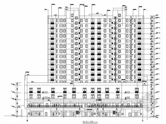 [四川]17层框支剪力墙结构底商住宅楼结构图(含建筑图)