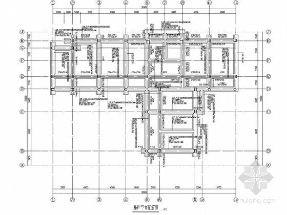 五层框架结构中心小学教学楼结构施工图
