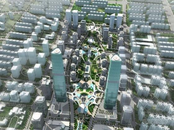 [广州]现代风格国际商务区规划设计方案文本(国外知名事务所)