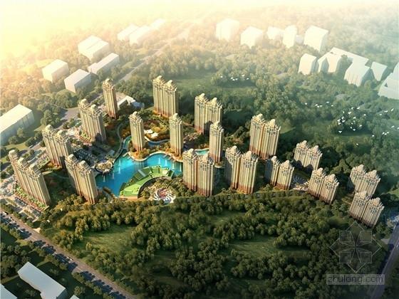 [西安]artdeco风格花园式高层居住区规划概念方案设计文本