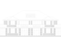 新农村两户双联式独栋别墅建筑施工图