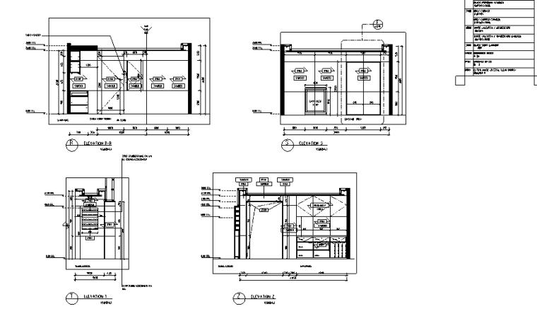 [上海]恒隆广场盟可睐Moncler专卖店设计施工图(附官方摄影图)-立面