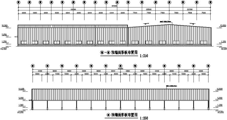 南京单跨门式刚架钢结构工程施工图(CAD,10张)