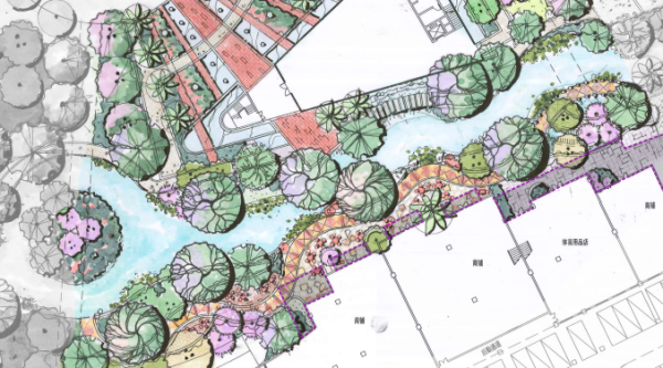 [广东]多功能多层次滨水休闲景观设计方案-驳岸设计平面图