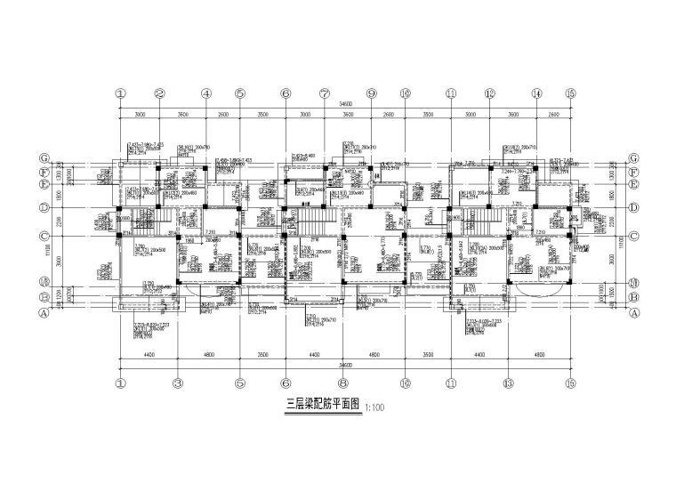 知名地产3层复式别墅建筑结构施工图2013