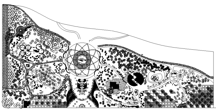 最全滨河景观绿化设计施工图合集(赠CAD植物平面图例)