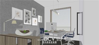 西安现代办公室内装修设计-曲江龙湖紫都城_6