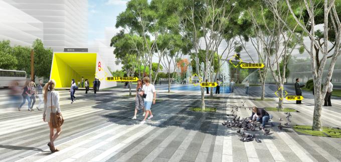 """[湖北]""""海绵城市""""汉派文化核心绿轴生态滨江商业核心区景观设计方案_6"""