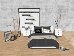 成套北欧风格SU模型[卧室]