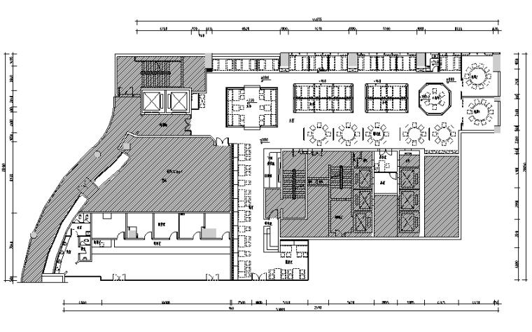 【新疆】新疆特色美食餐厅设计施工图(附效果图)_3