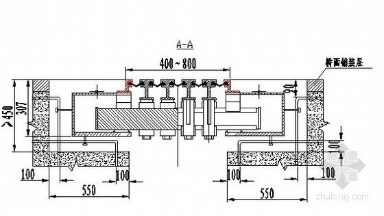 GQF-MZL400型桥梁伸缩装置安装示意图