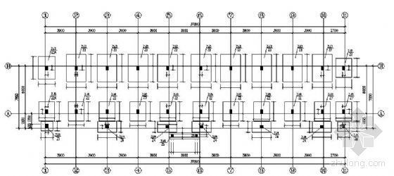 某四层宿舍楼结构施工图纸