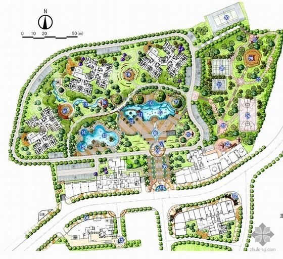 四川某小区景观规划平面