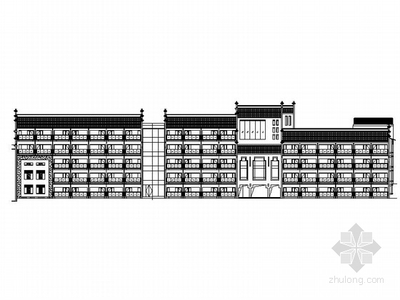 [福建]某6层欧式风格宾馆建筑施工图(南京某知名设计院)