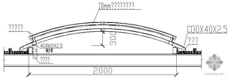 某自动开启窗剖面节点构造详图