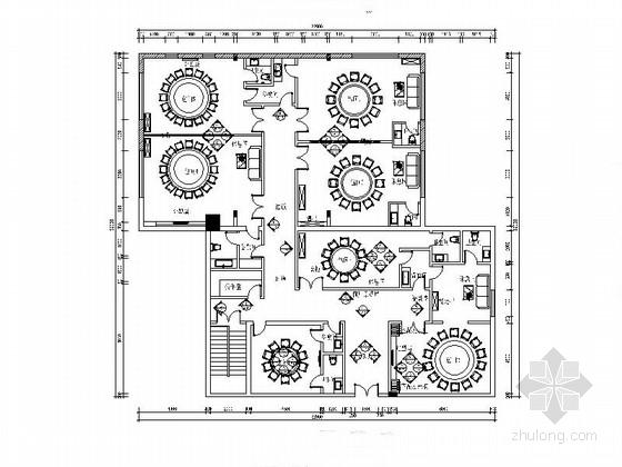 [河南]三星级商务酒店中式餐厅装修施工图(含效果)