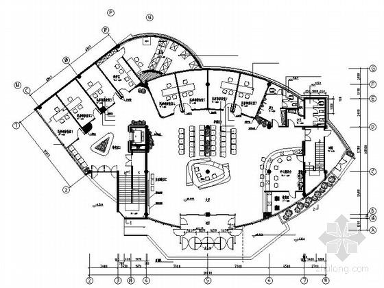 [上海]某大型服务中心现代办公楼室内设计cad施工图