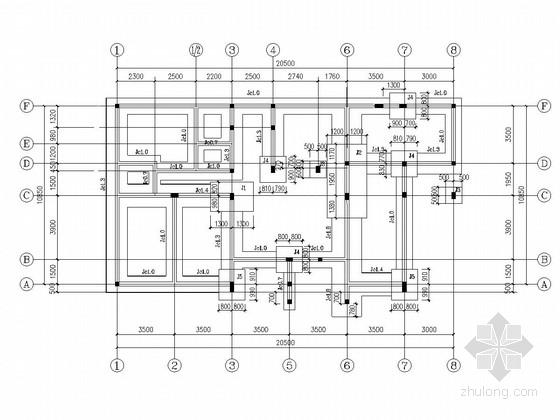 三层砖混结构别墅结构施工图